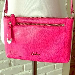 Cole Haan Neon Pink Crossbody Handbag